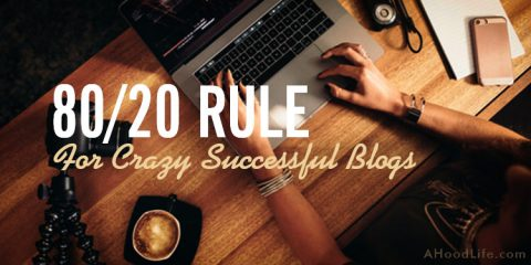 Do you know the 80 20 Rule for crazy successful blog sites? These blogging activities will provide you the greatest rewards for your efforts. #8020Rule #BloggingTips