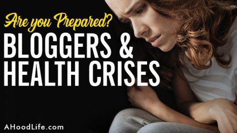 Blogger health crises? Preparing for health emergencies are part of any blogging business. Health insurance and passive income generation through affiliate marketing or advertising are great ways to look after yourself and your family's health and wealth through those difficult times. Please take care of yourselves! We at AHoodLife.com want you safe, happy, and successful bloggers! #blogging #bloggingtips #bloggingforbeginners #blogtips