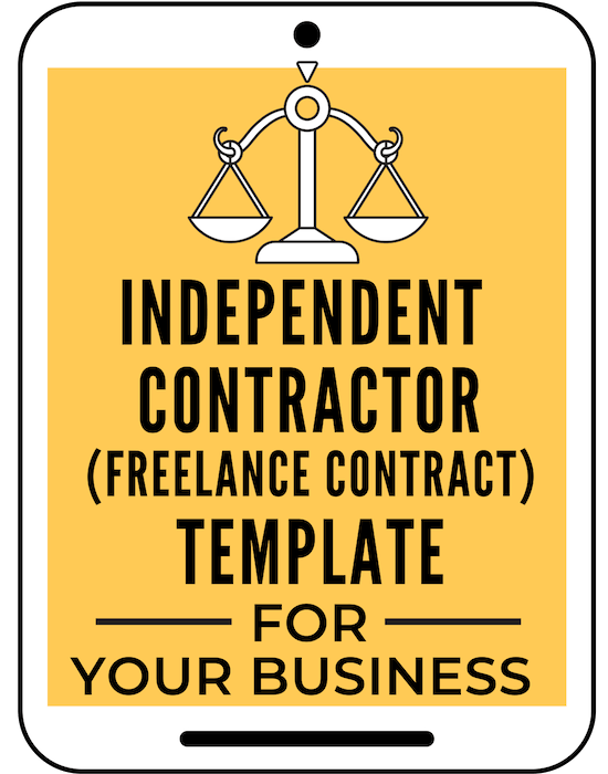 Get this easy to use Independent Contractor (Freelance Contract) Template for your business contract template effortlessly. #ahoodlife #blogtips #blogging #bloggingtips #bloggingforbeginners #startablog #blogginglaws #bloglegal #bloglegally#independentcontractor #independentcontractortemplates #bloglegalpages #legalpagesforblog #legalforms#legaltemplates#legalpages