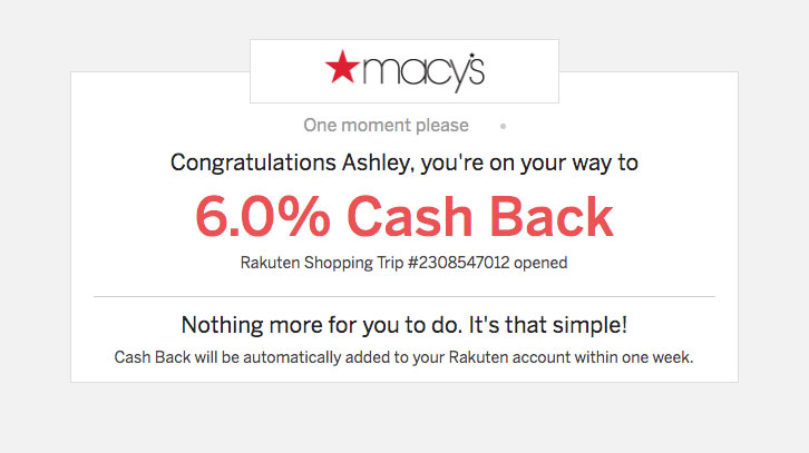 When you click on a Shop Now button to activate your savings and cash back rewards, you'll be taken to a verification page like this one before you're forwarded to your store.