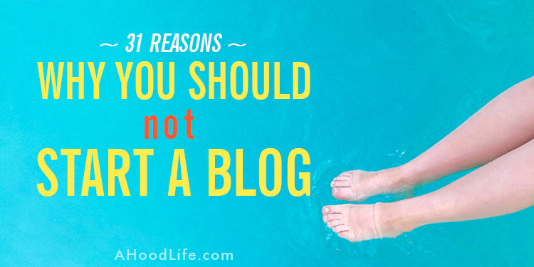 I want you safe and happy. There are reasons why you should NOT start a blog. If you identify with any of these, think twice before you create a blog. This especially holds true if you have internet addictions to is you… #ahoodlife #blogtips #blogging #bloggingtips #bloggingforbeginners #startablog